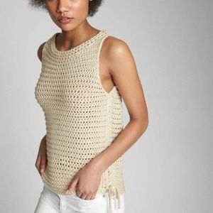 GAP crocheted top with tie sides SIZE XS